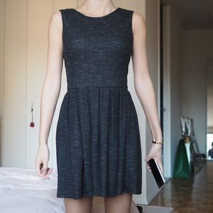 Talula Aritzia Grey Cotton Dress